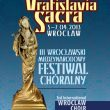 "Ist prize at III International Wroclaw Choir Festival – Competition ""Vratislavia Sacra"""