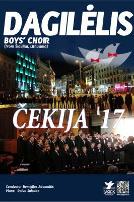 """(Lietuviškai) 2017-10-26 – 31 Berniukų ir jaunuolių choro """"Dagilėlis"""" koncertinis turas Čekijoje"""