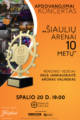 """(Lietuviškai) 2017-10-20 19.00 val. """"Dagilėlio"""" dalyvavimas Šiaulių arenos jubiliejiniame koncerte"""