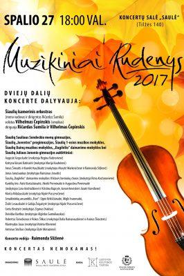 """(Lietuviškai) 2017-10-27 18.00 val. """"Muzikiniai Rudenys 2017″"""