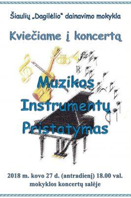 (Lietuviškai) 2018-03-27 18.00 val. Muzikos instrumentų pristatymas