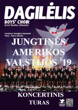 """2019 """"Dagilėlio"""" koncertinis turas Jungtinėse Amerikos Valstijose"""