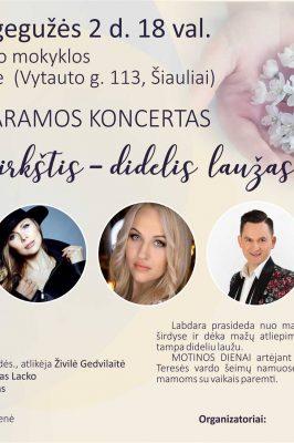"""2018-05-02 18.00 val. Labdaros paramos fondo """"Begalinė gausa"""" koncertas"""