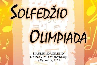 SVEIKINAME SOLFEDŽIO OLIMPIADOS NUGALĖTOJUS!