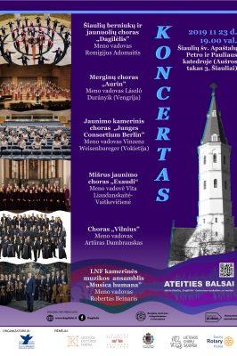2019-11-23 19.00 val. Koncertas Šiaulių šv. Apaštalų Petro ir Pauliaus katedroje