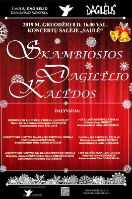 """08-12-2019 16.00 val. Skambiosios """"Dagilėlio"""" Kalėdos (private event)"""