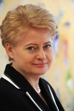 The President of Lithuania Dalia GRYBAUSKAITĖ