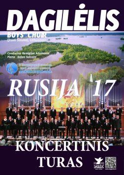 """(Lietuviškai) 2017 """"Dagilėlio"""" koncertinis turas Rusijoje"""