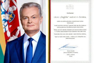 """SVEIKINAME """"DAGILĖLĮ"""" IR CHORO VADOVĄ REMIGIJŲ ADOMAITĮ!"""
