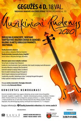 """2021-05-04 18.00 val. """"Muzikiniai rudenys"""" in Pakruojis"""