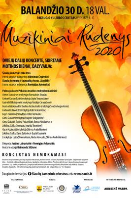 """2021-04-30 18.00 val. """"Muzikiniai rudenys"""" Pakruojyje"""