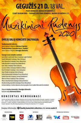 "2021-05-21 18.00 val. ""Muzikiniai rudenys"" Tauragėje"