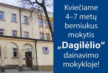 """(Lietuviškai) KVIEČIAME MOKYTIS """"DAGILĖLYJE""""!"""