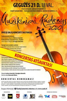 """(KONCERTAS ATŠAUKTAS) 2021-05-21 """"Muzikiniai rudenys"""" Tauragėje"""