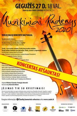 """(KONCERTAS ATŠAUKTAS) 2021-05-27 """"Muzikiniai rudenys"""" Šiauliuose"""