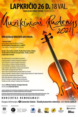 """26-11-2021 18:00 """"Muzikiniai rudenys"""" in Šiauliai"""